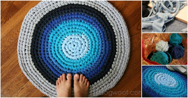 old clothes craft ideas area rug from recycled cloth how to 5047