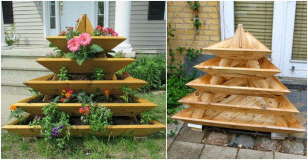 Pyramid Planter Vertical Garden