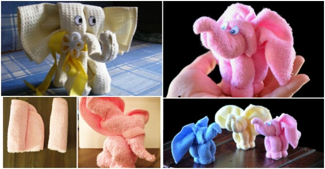 Towel Elephant Tutorial 1